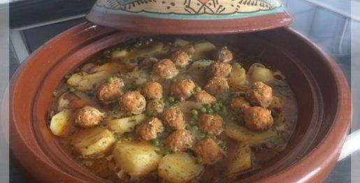 Recept van grote Marokkaanse Tajine met visballetjes